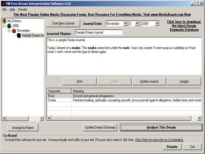 MB Free Dream Interpretation Software