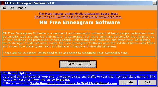 MB Free Enneagram Software
