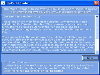 MB Free Life Path Number