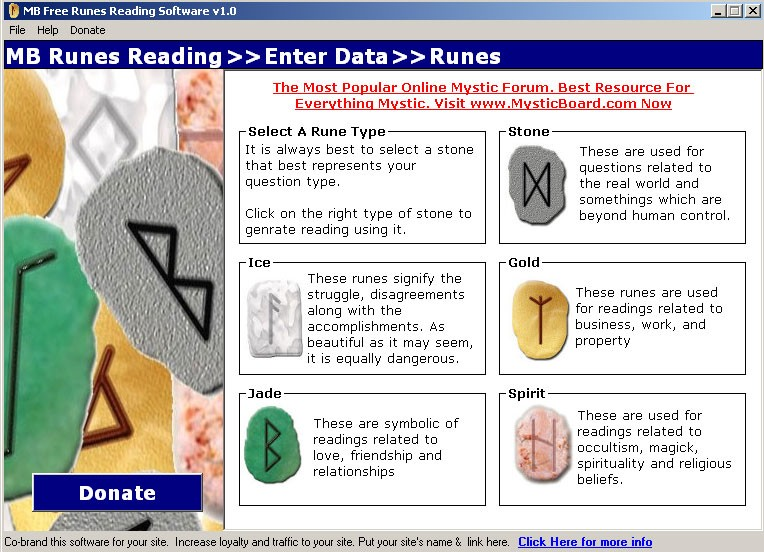 MB Free Runes Reading Software