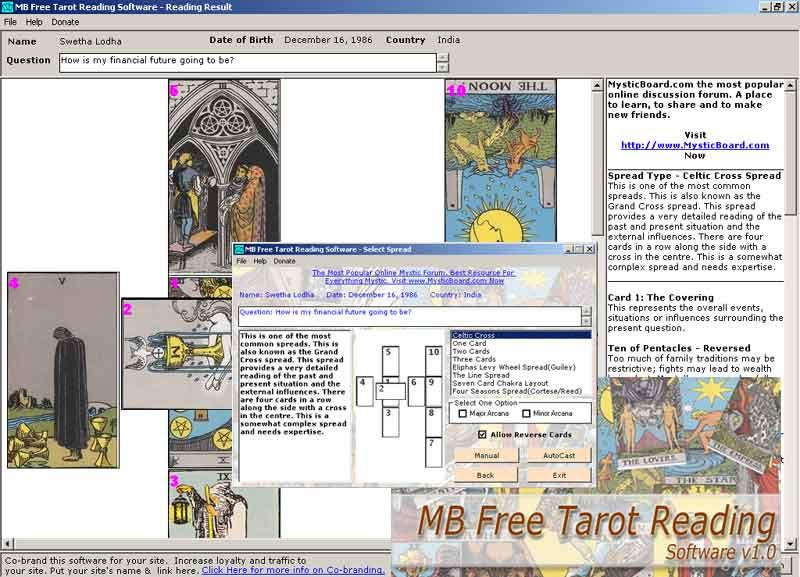 MB Free Tarot Reading Software