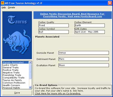 MB Free Taurus Astrology