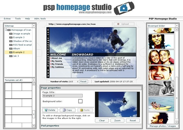 PSP Homepage Studio