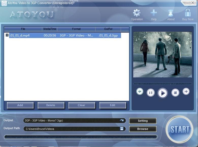 ATOYOU Video to 3GP Converter