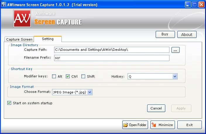 AWinware Screen Capture