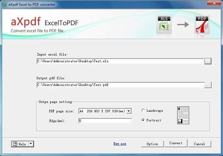 AXPDF Excel to PDF Converter