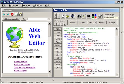 Able Web Editor