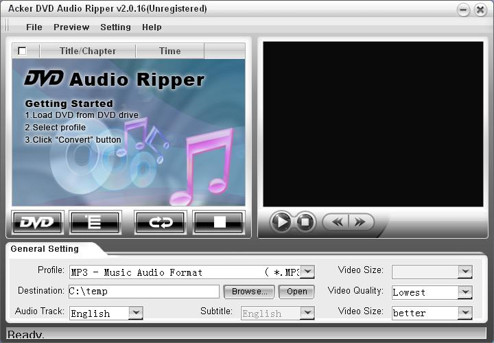 Acker DVD Audio Ripper