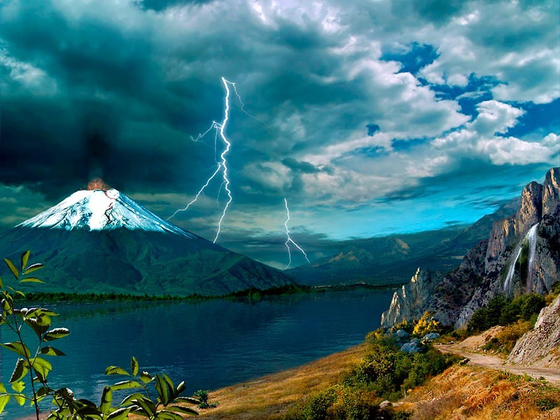 Active Volcano Screensaver