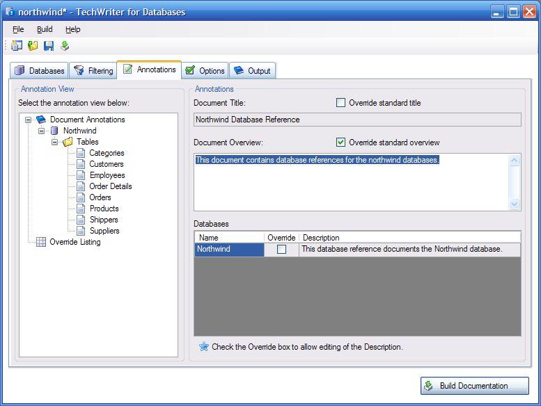 Adivo TechWriter for Databases
