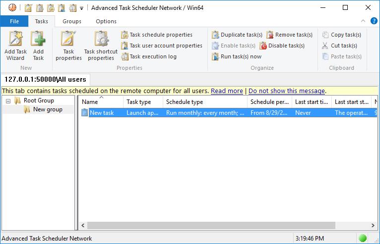 Advanced Task Scheduler Network