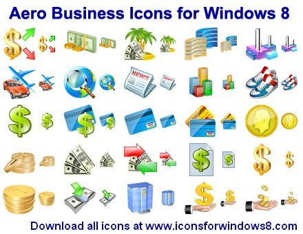 Aero Business Icons for Windows 8