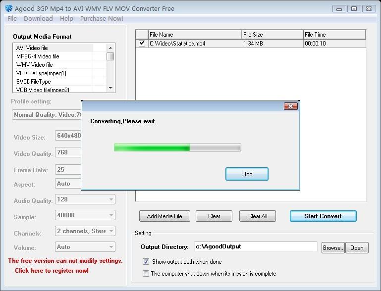 Agood 3GP Mp4 to AVI WMV Converter Free