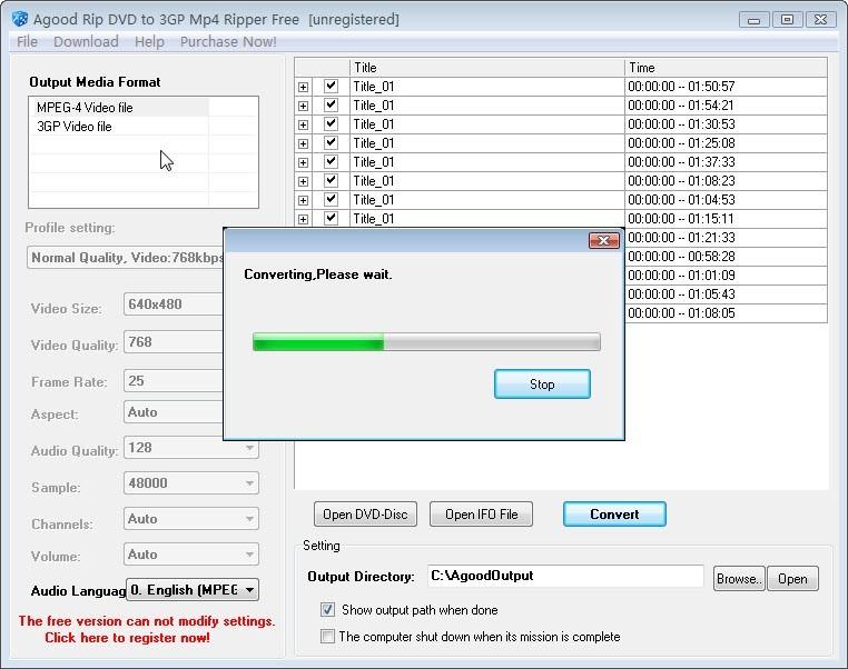Agood Rip DVD to 3GP Mp4 Ripper Free