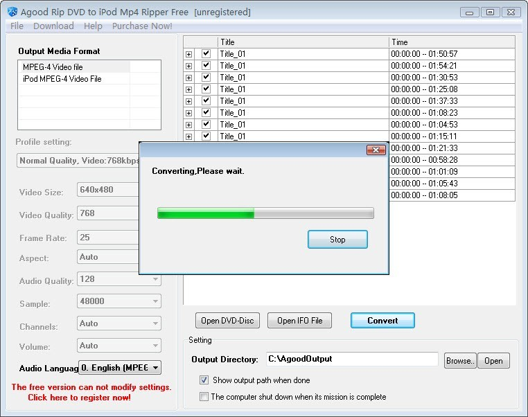 Agood Rip DVD to iPod Mp4 Ripper Free
