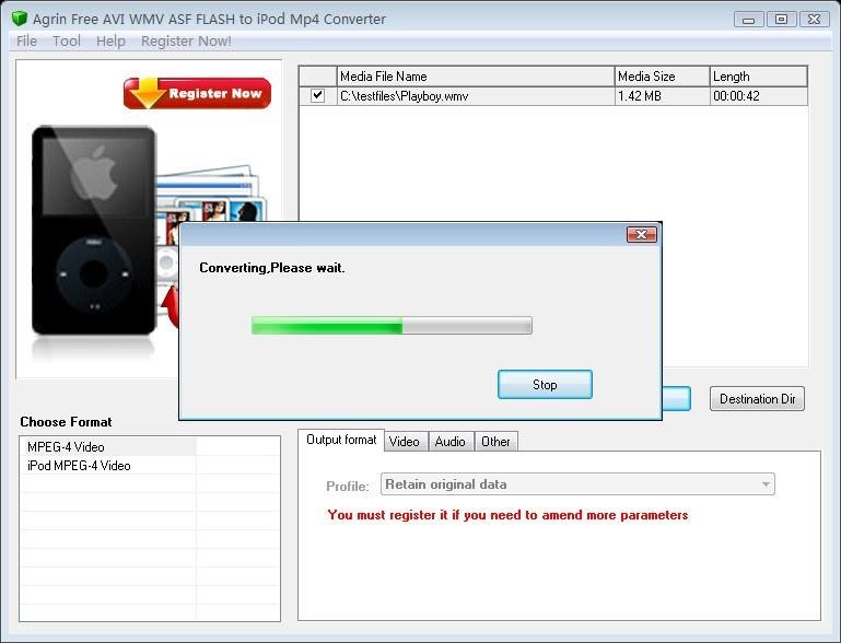 Agrin Free AVI WMV ASF to iPod Converter