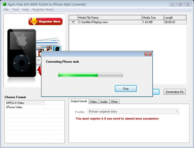 Agrin Free AVI WMV to iPhone Converter