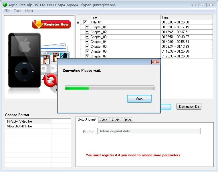 Agrin Free Rip DVD to XBOX Mp4 Ripper