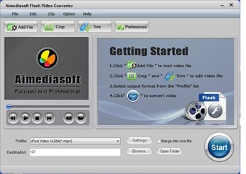 Aimediasoft Flash Video  Converter