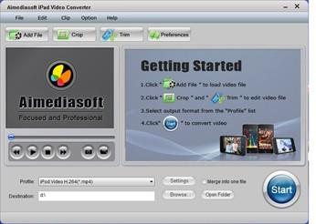 Aimediasoft iPad Video  Converter
