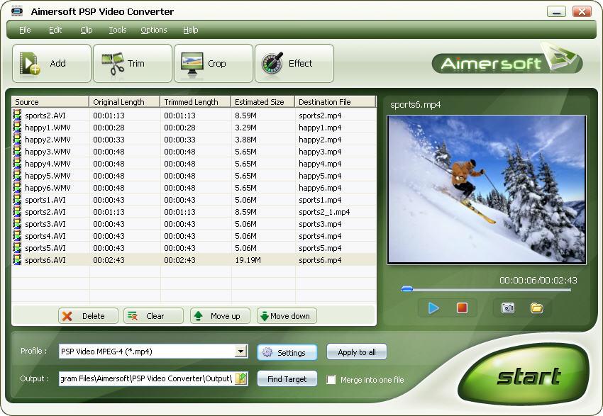 Aimersoft PSP Video Converter