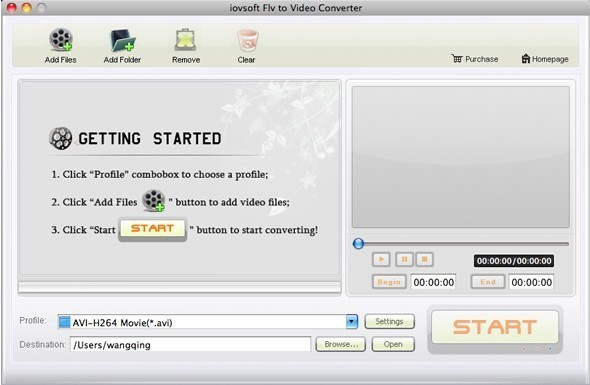 Ainsoft FLV Video Converter for Mac