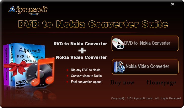 Aiprosoft DVD to Nokia Converter Suite