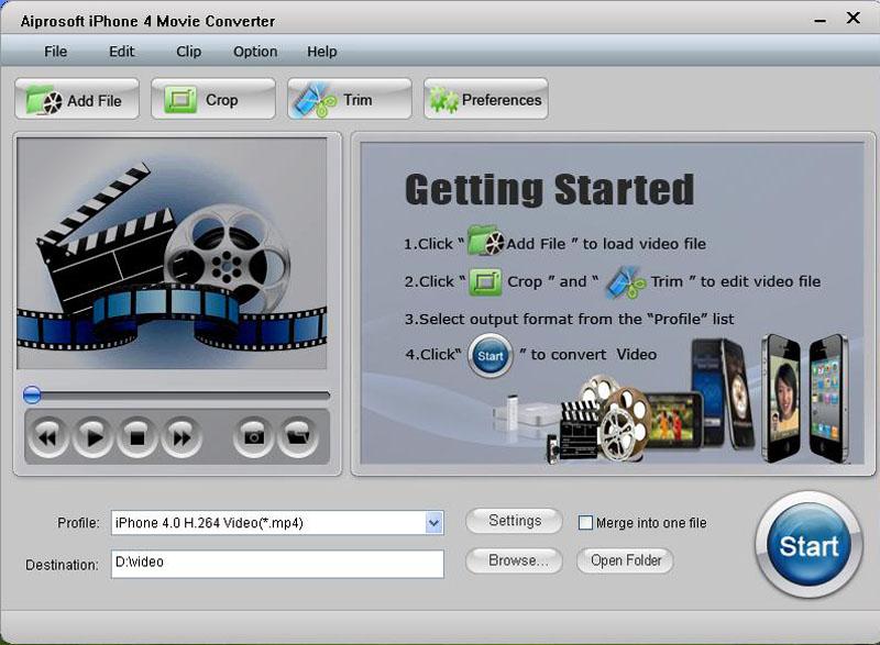 Aiprosoft iPhone 4 Movie Converter
