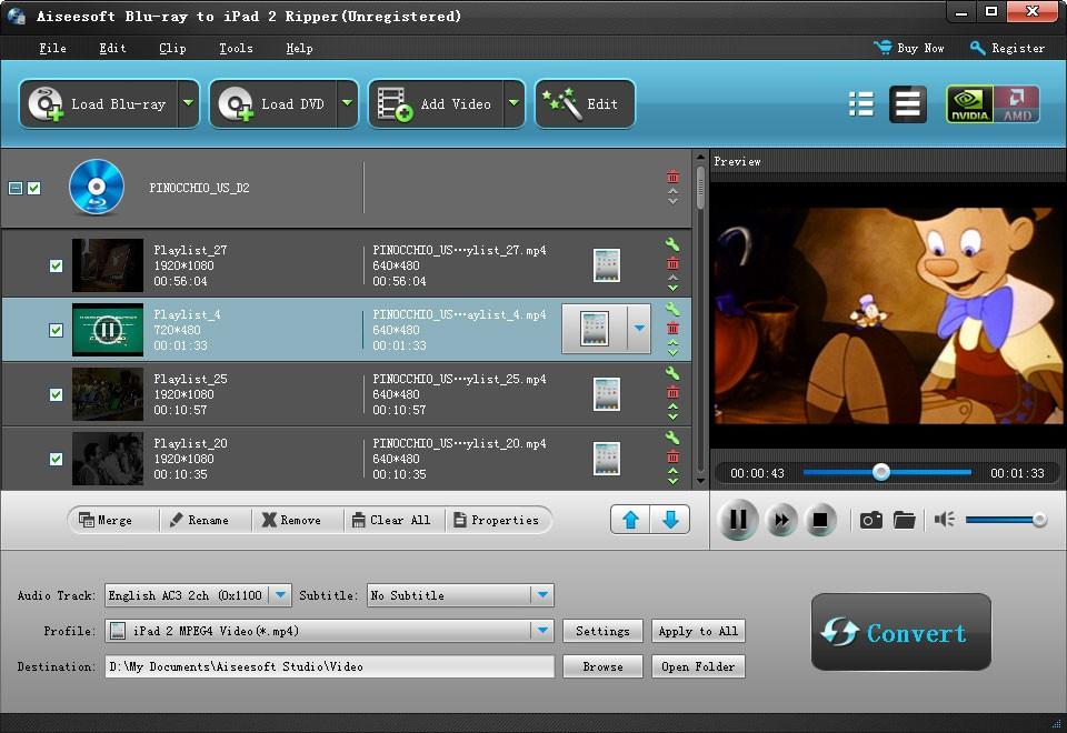Aiseesoft Blu-ray to iPad 2 Ripper