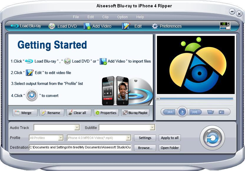 Aiseesoft Blu-ray to iPhone 4 Ripper