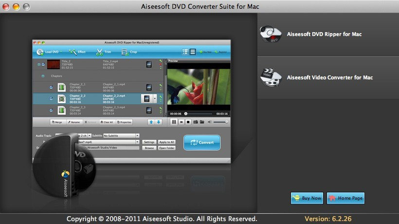 Aiseesoft DVD Converter Suite for Mac