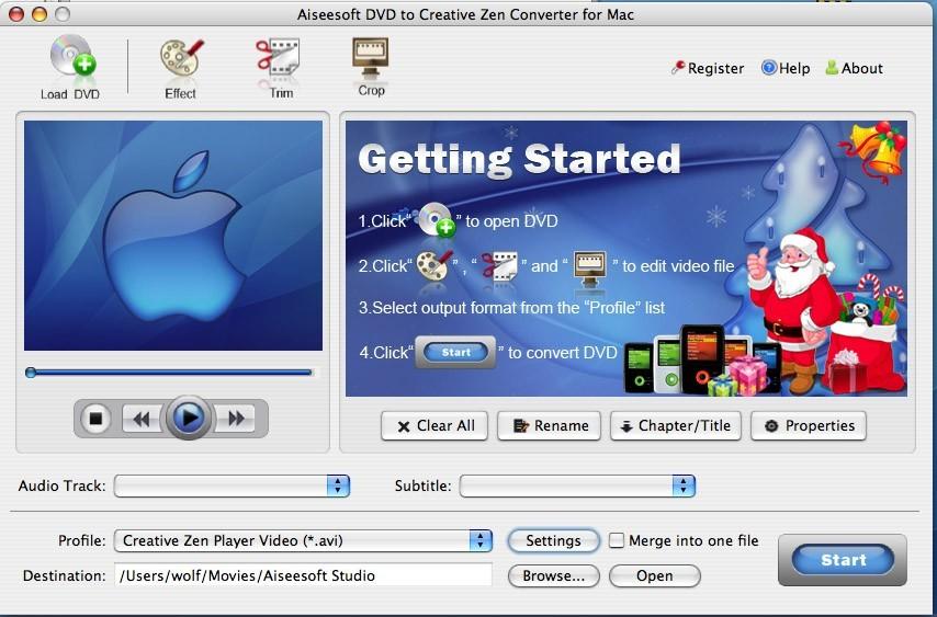 Aiseesoft DVD to Creative Zen for Mac