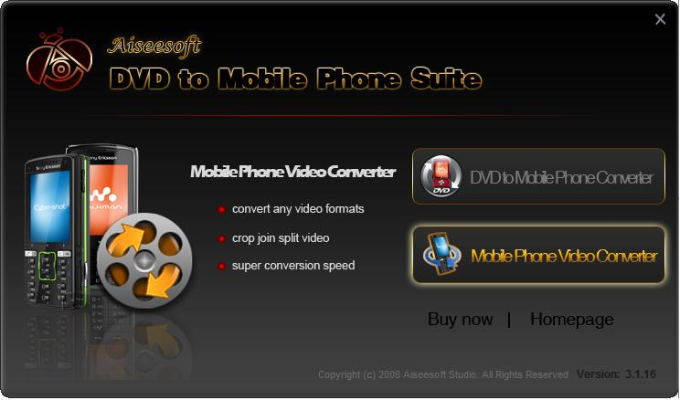 Aiseesoft DVD to Mobile Phone Suite