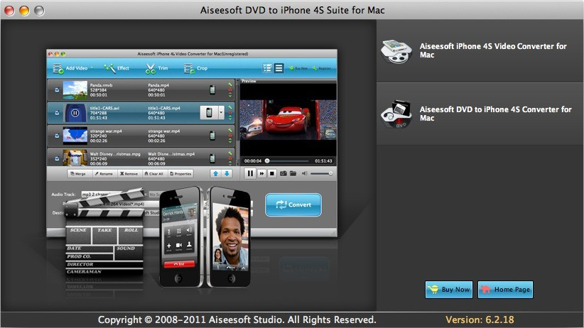 Aiseesoft DVD to iPhone 4S Suite for Mac