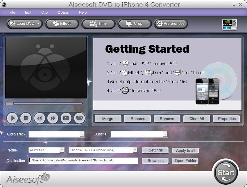 Aiseesoft DVD to iPhone 4 Converter