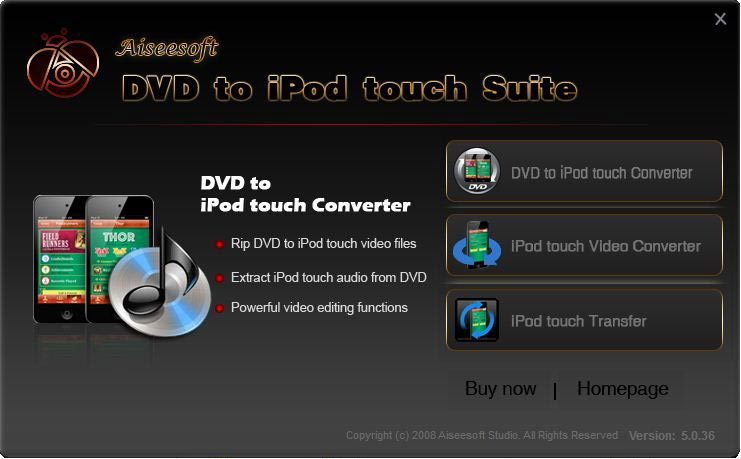 Aiseesoft DVD to iPod touch Suite
