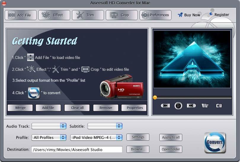 Aiseesoft HD Konverter Software fuer Mac