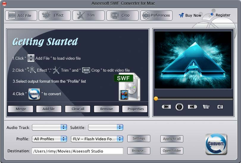Aiseesoft SWF Converter for Mac