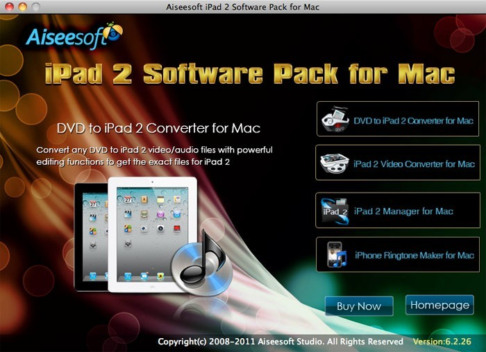 Aiseesoft iPad 2 Software Pack for Mac