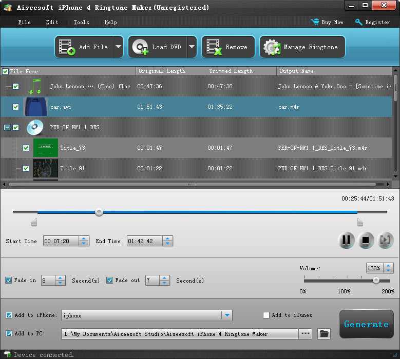 Aiseesoft iPhone 4 Ringtone Maker