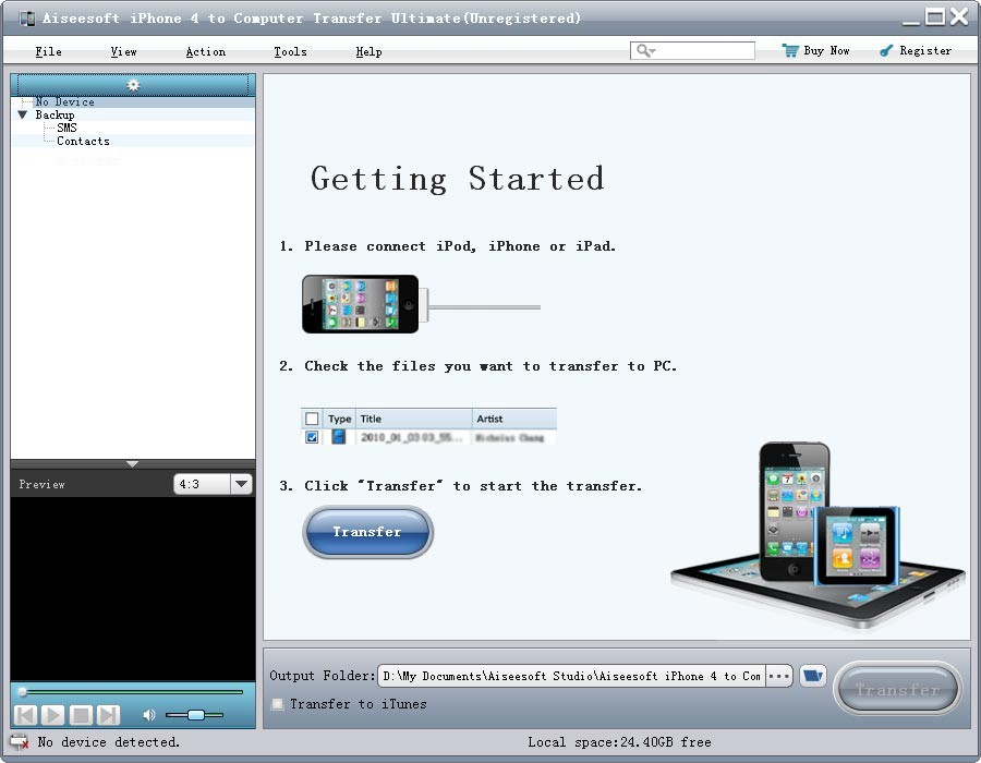 Aiseesoft iPhone 4 to PC Transfer Pro