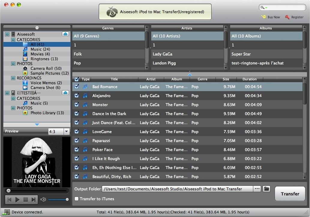 Aiseesoft iPod to Mac Transfer