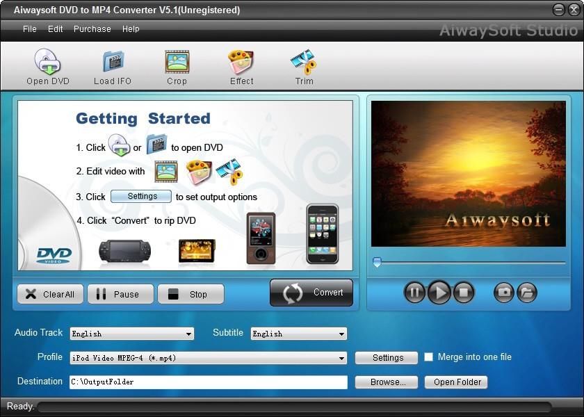 Aiwaysoft DVD to MP4 Converter