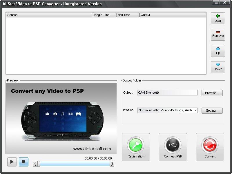 AllStar Video to PSP Converter