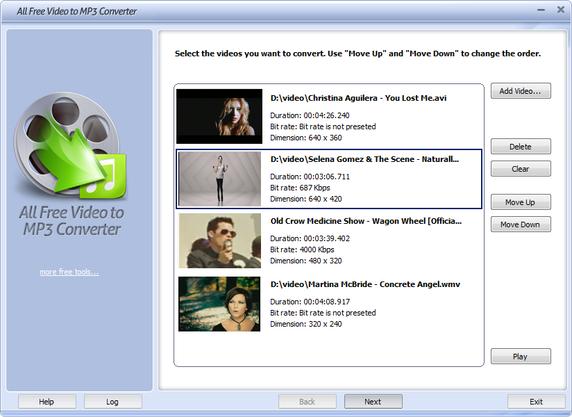 All Free Video to MP3 Converter