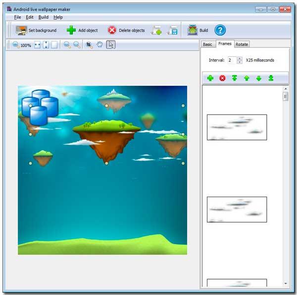 Android live wallpaper maker Main Window - Appmk.com ...