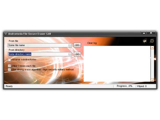 Andromeda File Secure Eraser