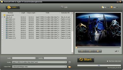 Aneesoft DVD to Apple TV Converter