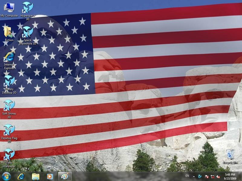 Animated Wallpaper: Desktop Flag 3D