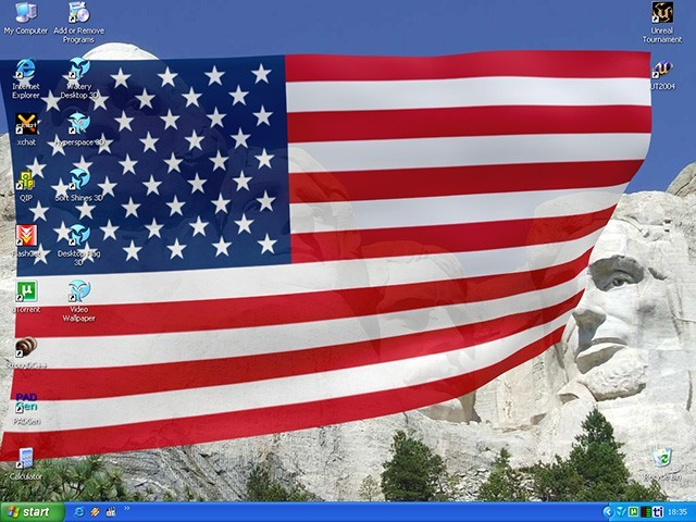 Animated Wallpaper - Desktop Flag 3D